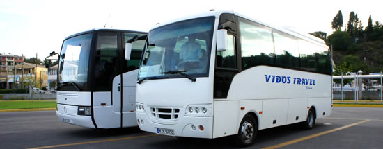 Transfers Corfu Buses at Port