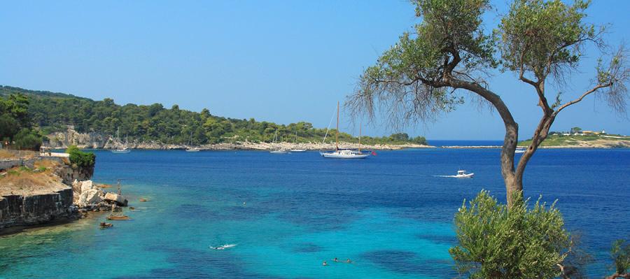 Gaios beach Paxos island
